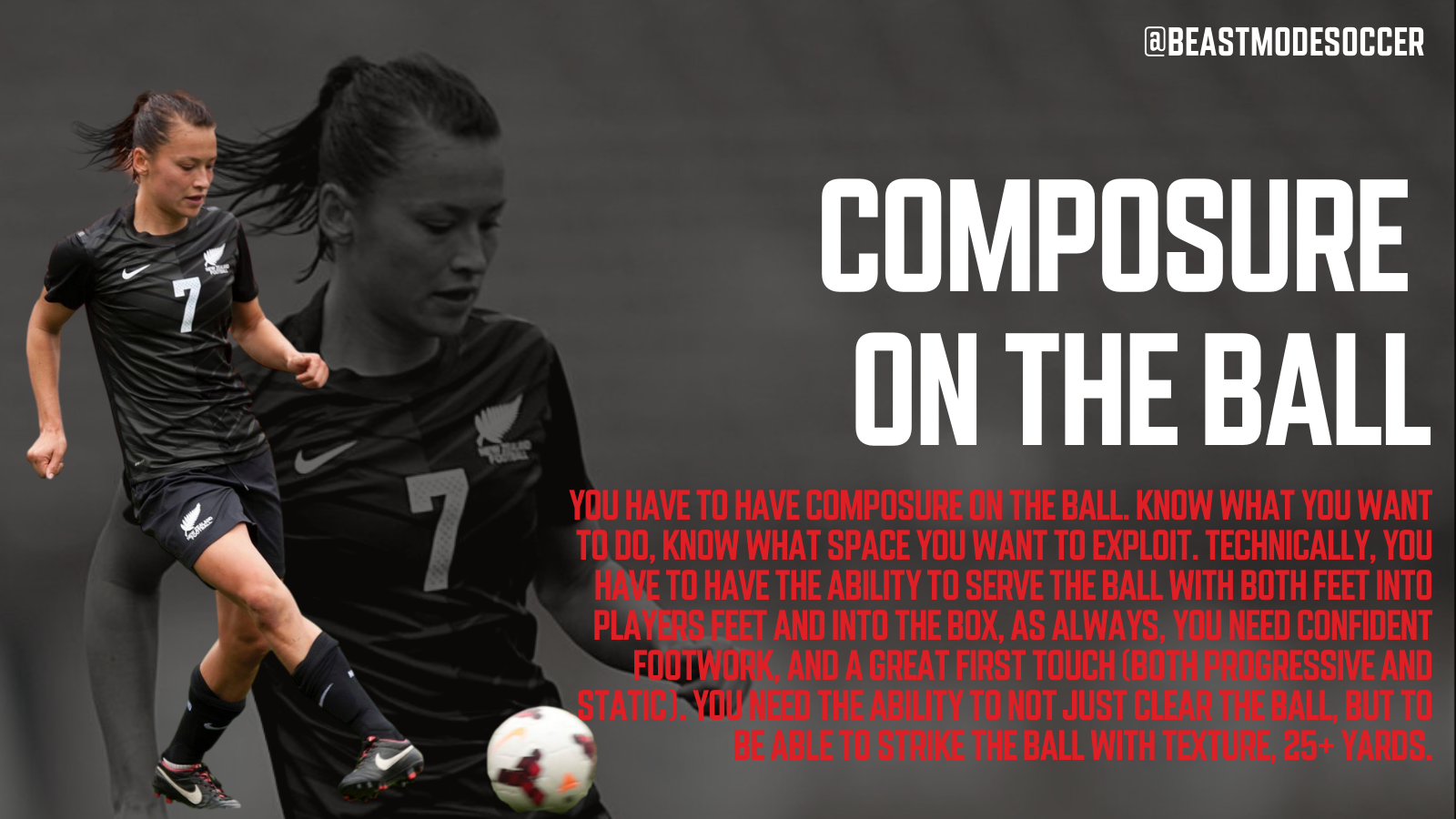 How to be composed on the ball in soccer