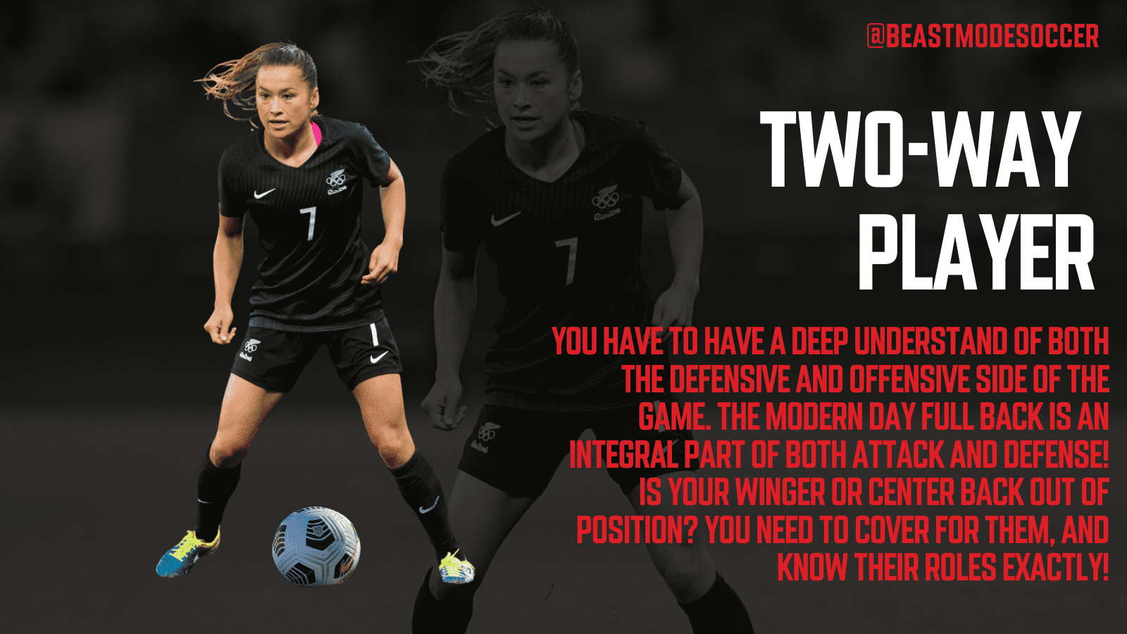 Become a Two Way Player in soccer