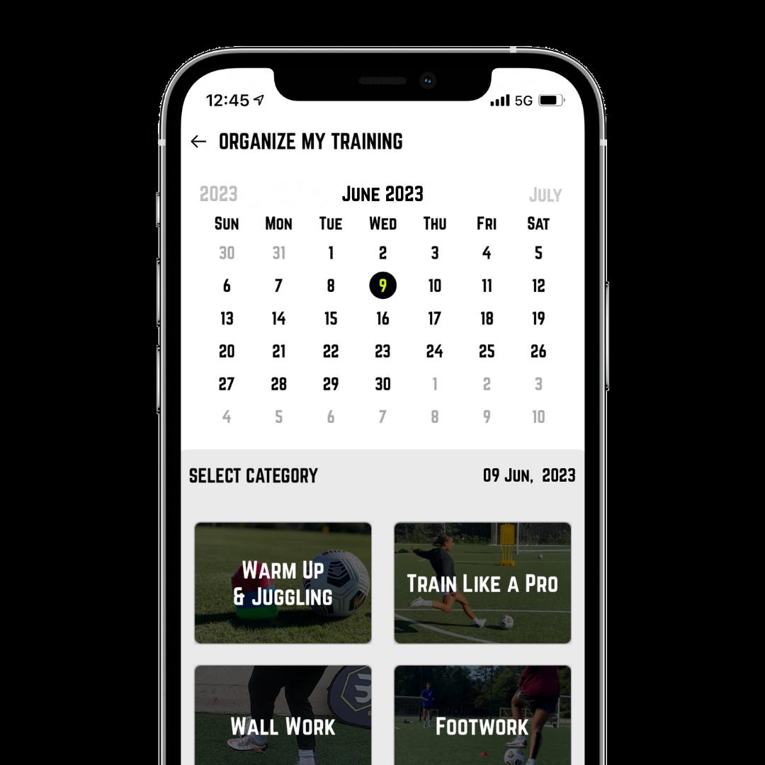 Beast Mode Soccer App Calendar