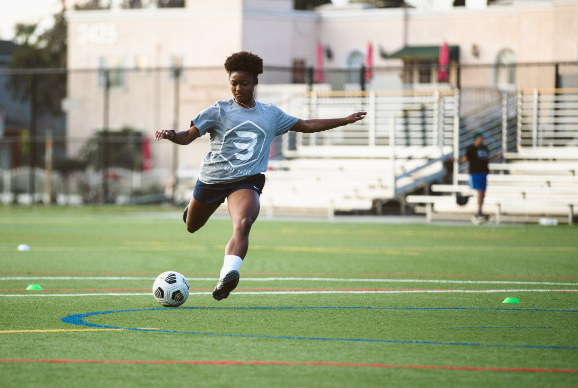 individual soccer training finishing